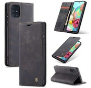 CaseMe Samsung A71 Case Black - Retro Wallet