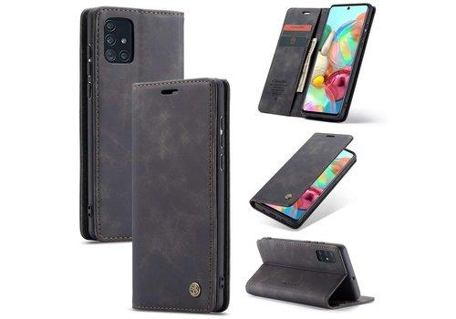 Retro Wallet Slim for A71 Black