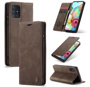 CaseMe Samsung A71 Case Braun - Retro Wallet Slim