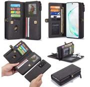 CaseMe Samsung S20 Ultra Hoesje Zwart - Multi Wallet Case