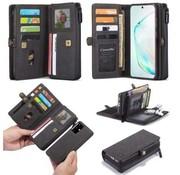 CaseMe Samsung S20 Plus Hoesje Zwart - Multi Wallet Case