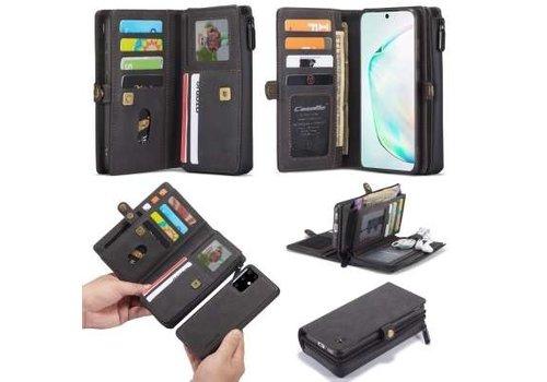 Samsung S20 Plus Hoesje Zwart - Multi Wallet Case