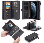 CaseMe iPhone 11 Pro Max Hoesje Zwart - Multi Wallet Case