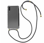 Colorfone Samsung A70 cover Transparent with cord - Shockproof cord