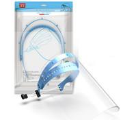 Dr. BanBao Spatscherm - Face Shield - Gezichtscherm -Spatmasker - Houder met 10 schermen Transparant