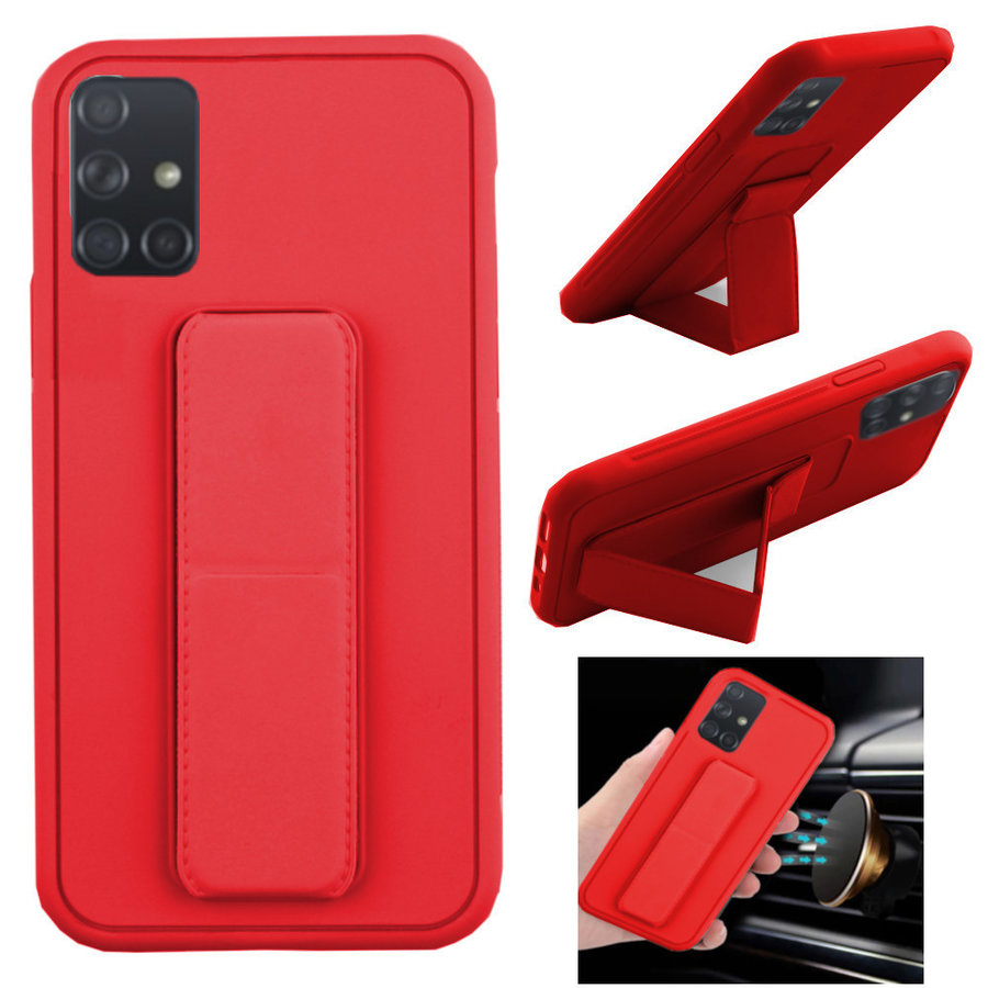 BackCover Grip voor Samsung A71 Rood