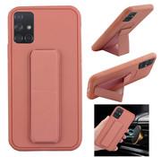 Colorfone Samsung A71 Hoesje Roze - Grip