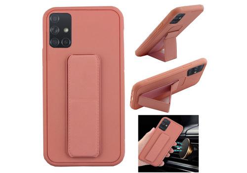 Samsung A71 Hoesje Roze - Grip