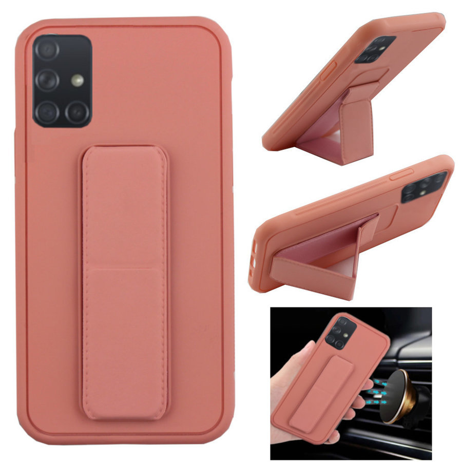 BackCover Grip for Samsung A71 Pink