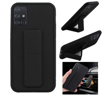 Colorfone Samsung A71 Hoesje Zwart - Grip