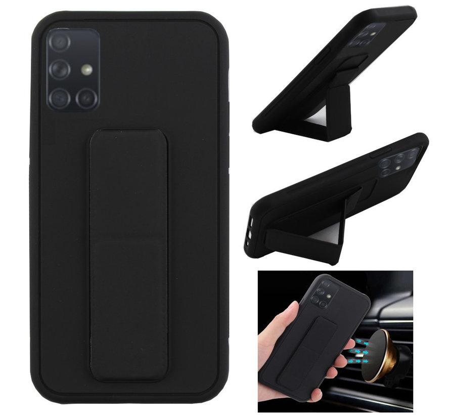 Samsung A71 Hoesje Zwart - Grip
