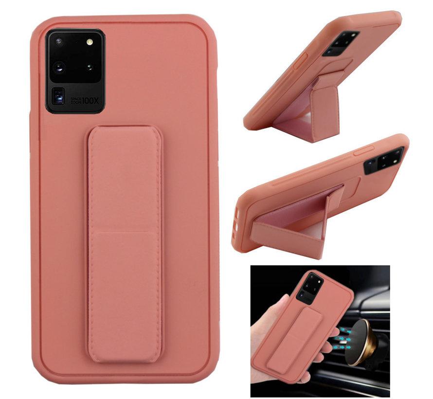 Samsung S20 Hoesje Roze - Grip