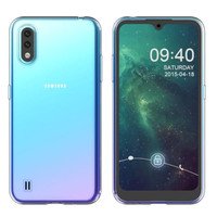 Hoesje Coolskin3T voor Samsung A01 Transparant Wit