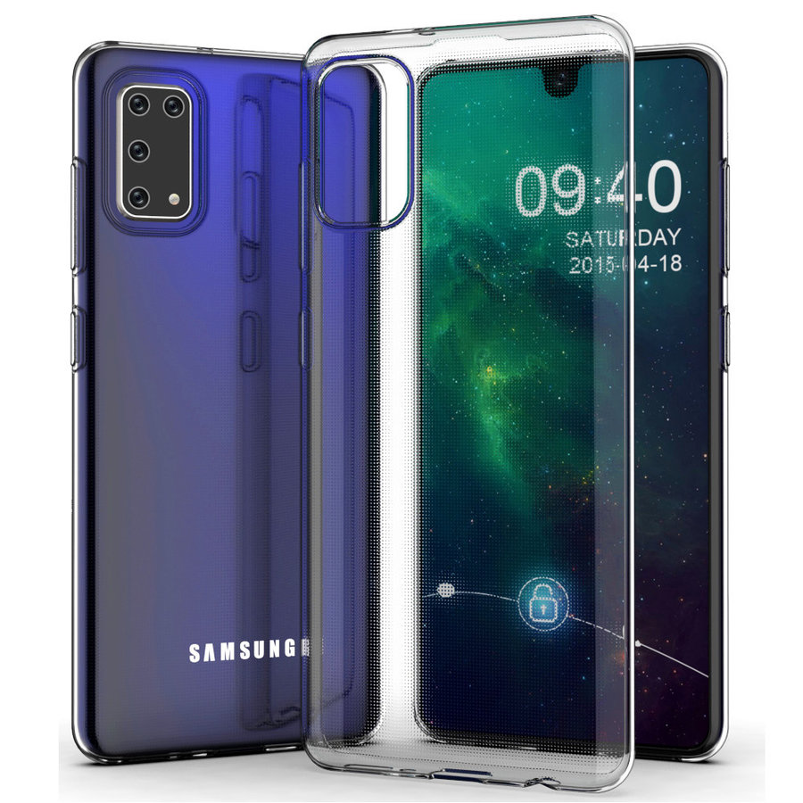 Hoesje Coolskin3T voor Samsung A41 Transparant Wit