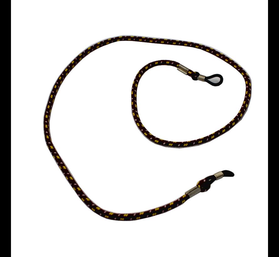 Brillenkoord  Bruin - zonnebril koord  donkerrood