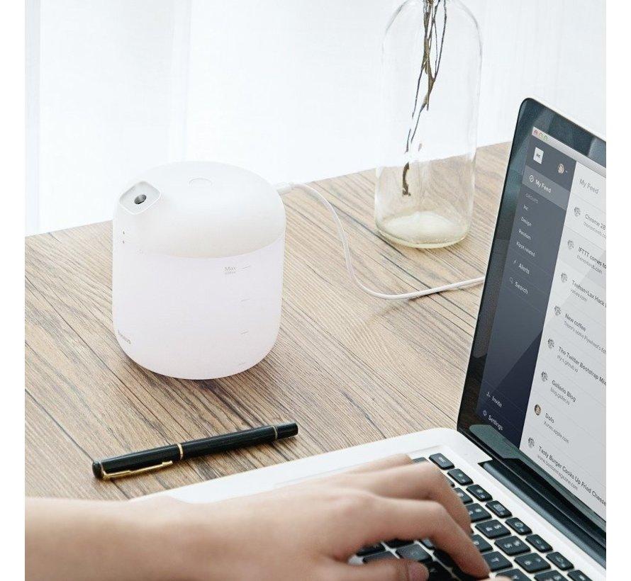 BASEUS Elephant - 600ML grote capaciteit - luchtbevochtiger met nachtlichtfunctie voor thuiskantoor Luchtbevochtiger / Humidifier voor in de Auto, Woonkamer, Kantoor, Slaapkamer