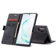 CaseMe Samsung Note 20 Hoesje Zwart - Retro Wallet Slim