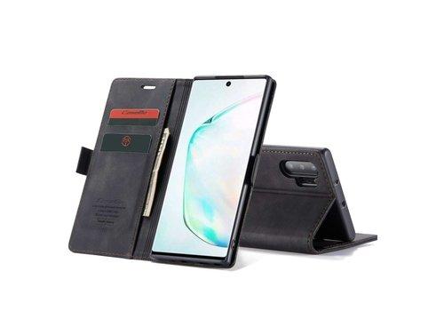 Samsung Note 20 Hoesje Zwart - Retro Wallet Slim