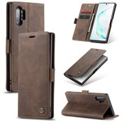 CaseMe Samsung Note 20 Case Braun - Retro Wallet Slim