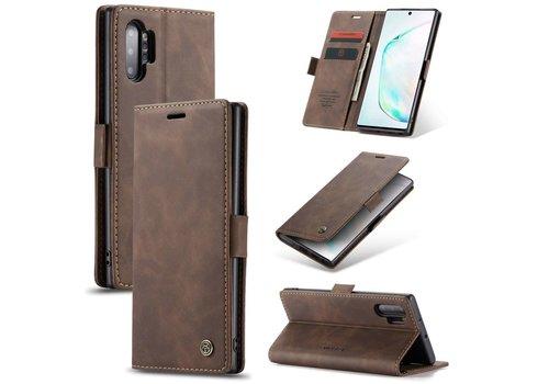 Samsung Note 20 Hoesje Bruin - Retro Wallet Slim