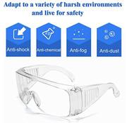 LichtGewicht Veiligheidsbril Transparant Universeel 10 stuks| Polycarbonaat | CE gekeurd | Vuurwerkbril | Beschermbril | Oogbeschermer | Spatbril | Stofbril | Overzetbril