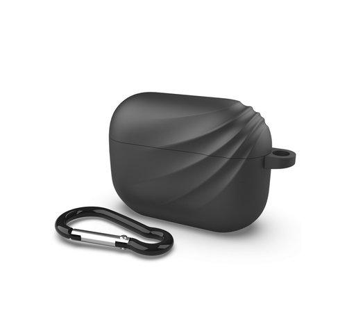 Devia Apple Airpods Pro case met haakje - Zwart Deluxe