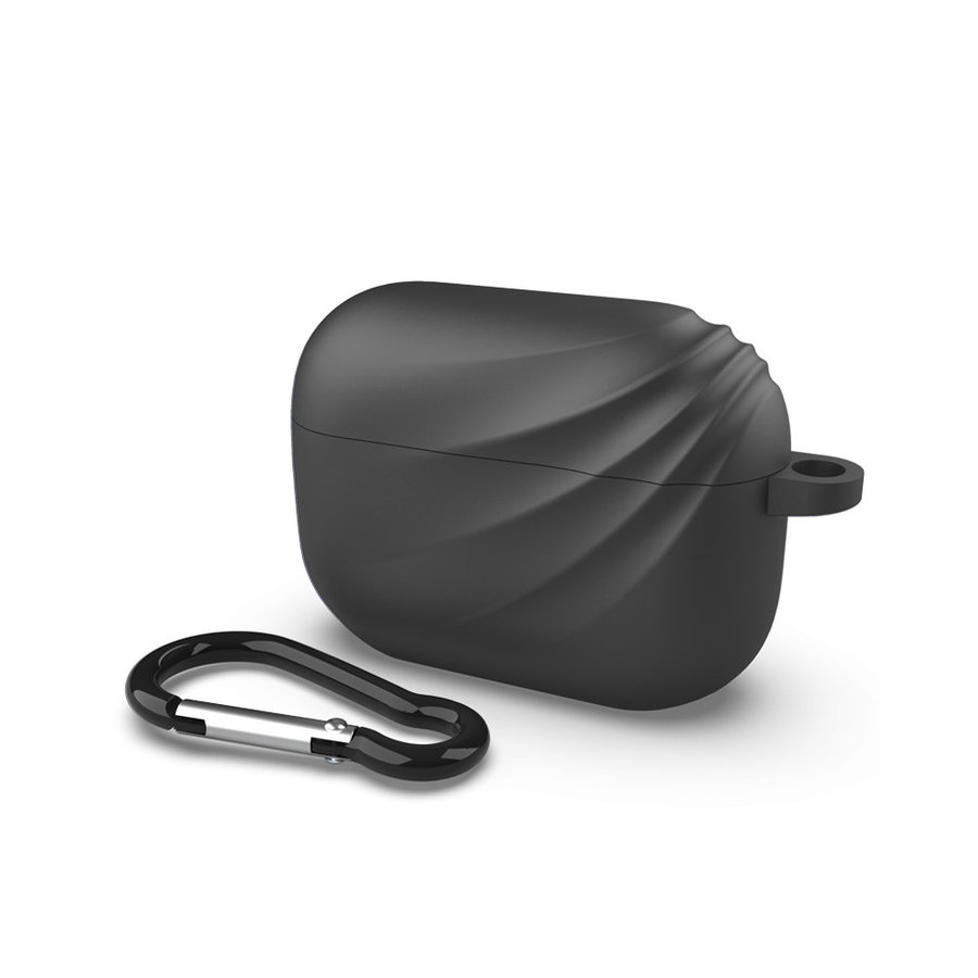 Apple Airpods Pro case with haakje - Black Deluxe