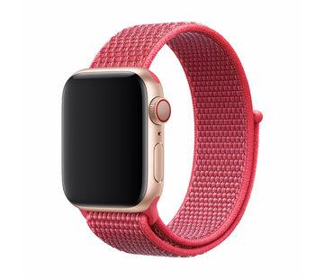 Devia Geschikt voor Apple Watch 38/40MM Bandje Rood - Nylon