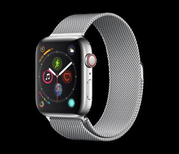 Devia Geschikt voor Apple Watch 38/40MM Bandje Zilver - Milanees