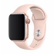 Devia Geschikt voor Apple Watch 38/40MM Bandje Lichtroze - Sport Strap