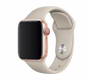 Devia Geschikt voor Apple Watch 38/40MM Bandje Beige- Sport Strap