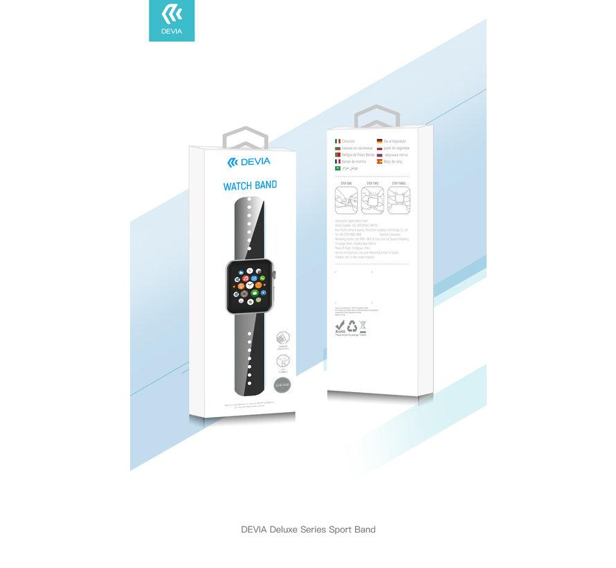 Geschikt voor Apple Watch 42/44MM Bandje Zwart - Sport