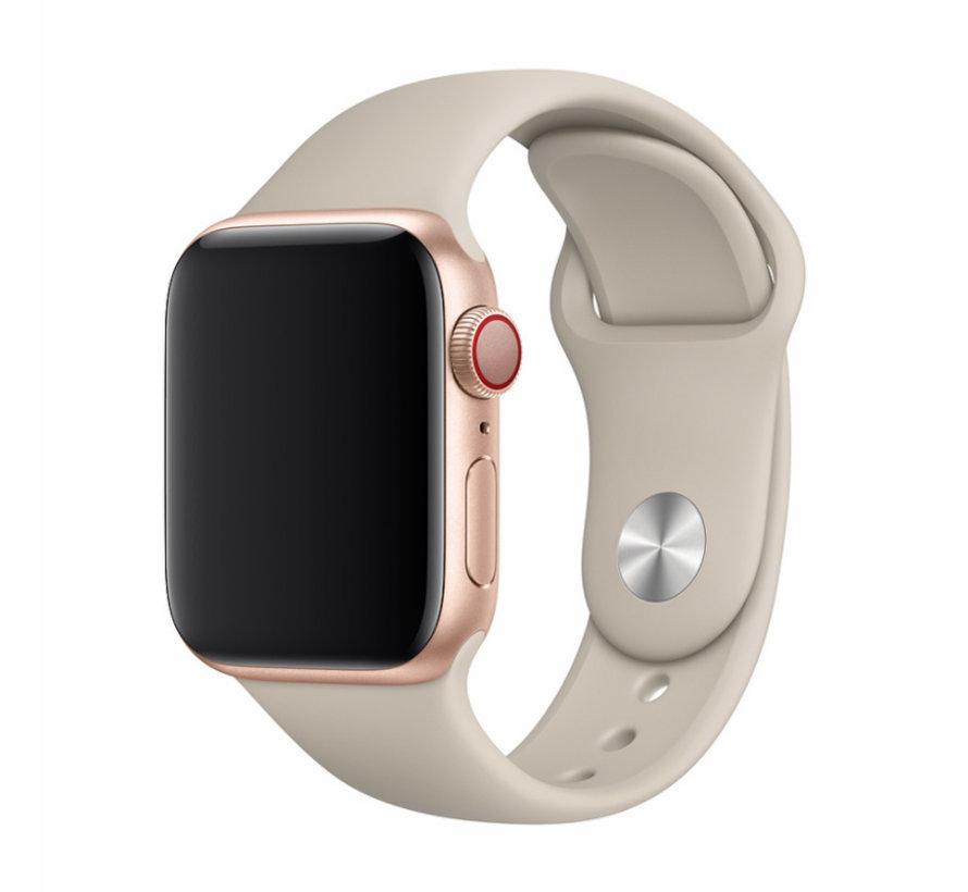 Geschikt voor Apple Watch 42/44MM Bandje Beige - Sport