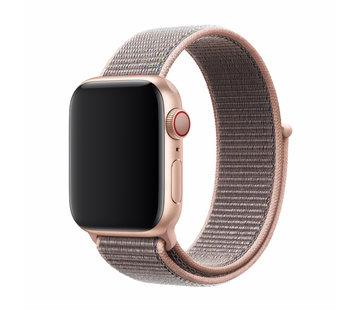 Devia Geschikt voor Apple Watch 38/40MM Bandje Lichtroze - Nylon