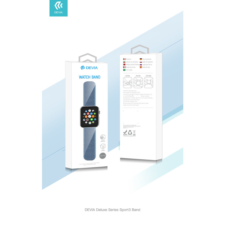 Apple Watch 42/44MM Bandje Rood - Nylon
