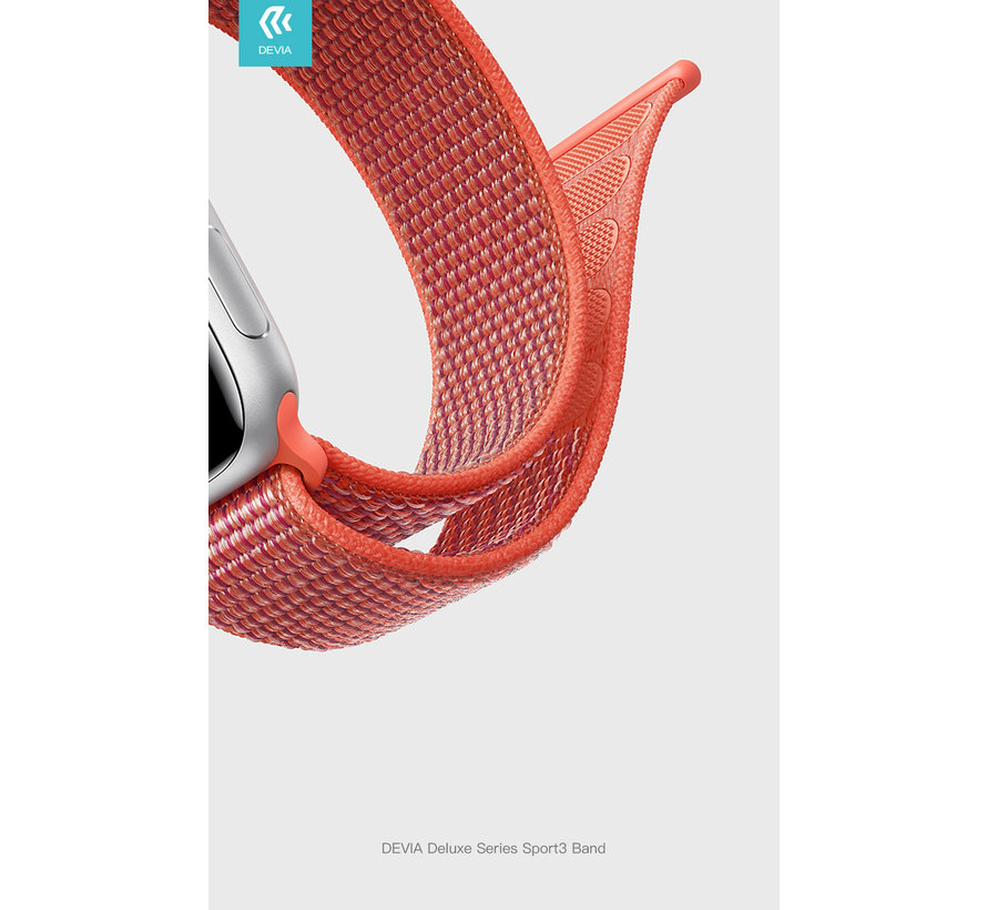Geschikt voor Apple Watch 42/44MM Bandje Rood - Nylon