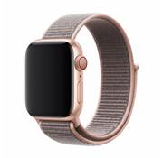 Devia Geschikt voor Apple Watch 42/44MM Bandje Lichtroze - Nylon