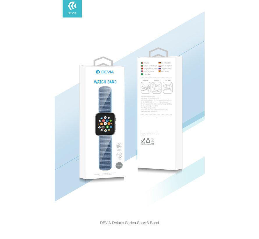 Geschikt voor Apple Watch 42/44MM Bandje Zwart - Nylon