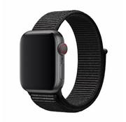 Devia Geschikt voor Apple Watch 42/44MM Bandje Zwart - Nylon
