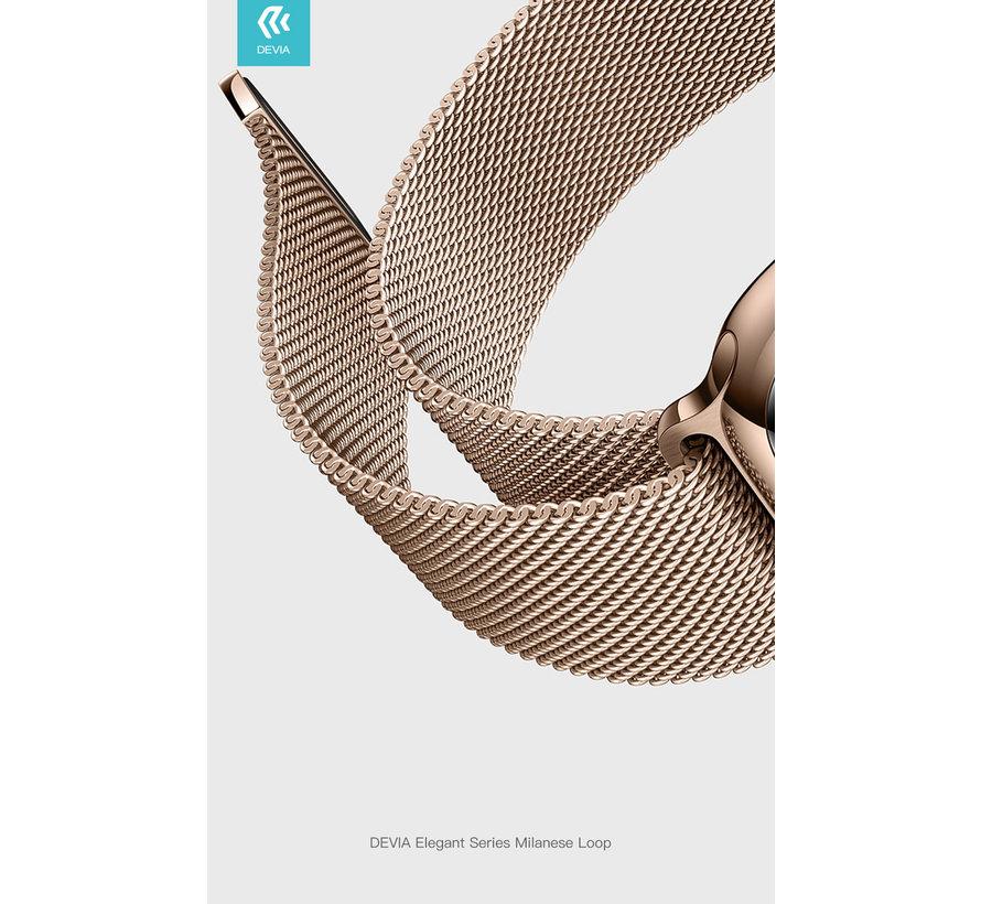 Geschikt voor Apple Watch 38/40MM Bandje Goud - Milanees