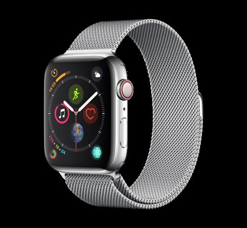 Devia Apple Watch 42/44MM Bandje Zilver - Milanees