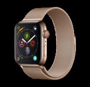 Devia Geschikt voor Apple Watch 42/44MM Bandje Goud - Milanees