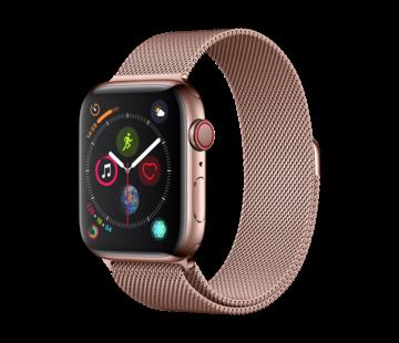 Devia Geschikt voor Apple Watch 42/44MM Bandje Rose Goud - Milanees