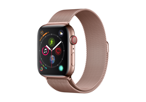 Apple Watch 42/44MM Bandje Rose Goud - Milanees