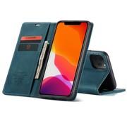CaseMe iPhone 12 Mini Hoesje Blauw 5.4 inch - Retro Wallet Slim