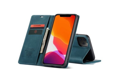 iPhone 12 Mini Case Blue 5.4 inch - Retro Wallet Slim