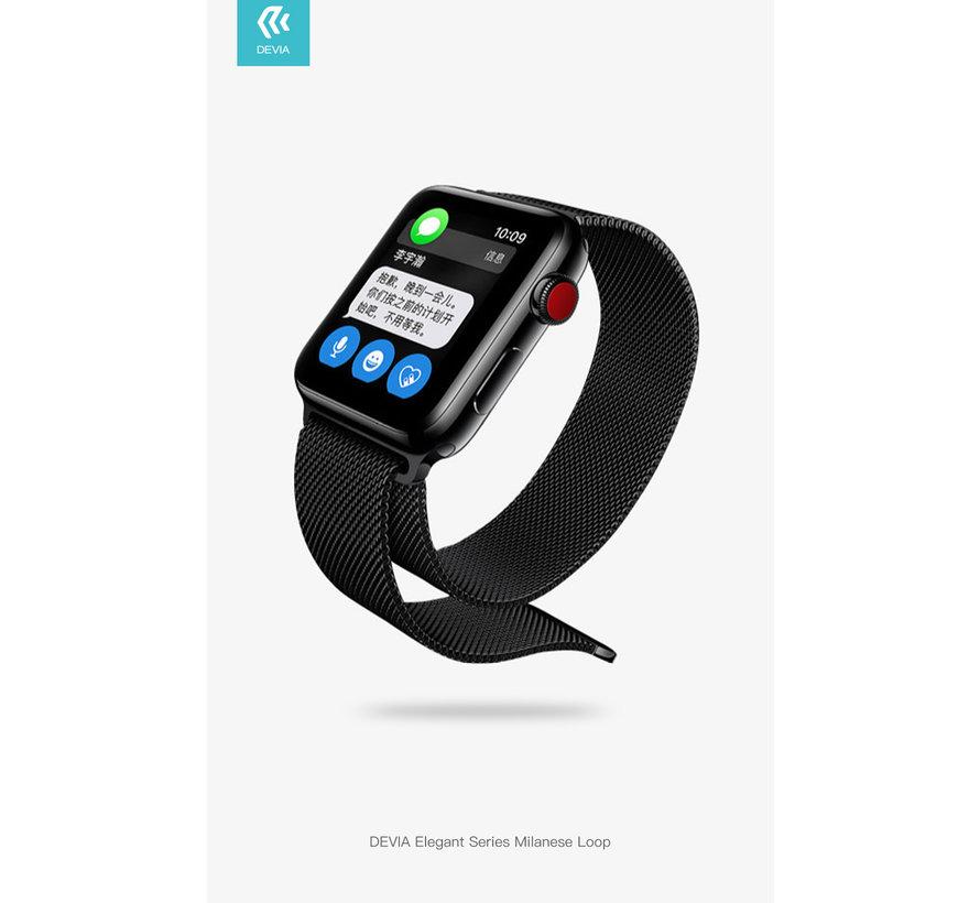 Apple Watch 38/40MM Bandje Zwart - Milanees