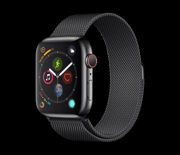 Devia Geschikt voor Apple Watch 42/44MM Bandje Zwart - Milanees