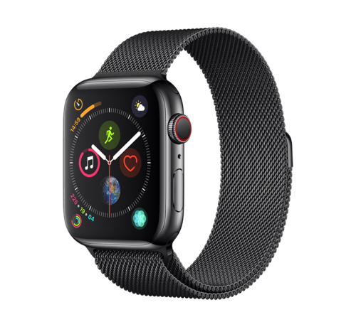 Devia Apple Watch 42/44MM Bandje Zwart - Milanees