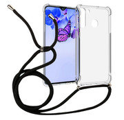 Colorfone Samsung A21 Case Transparent with cord